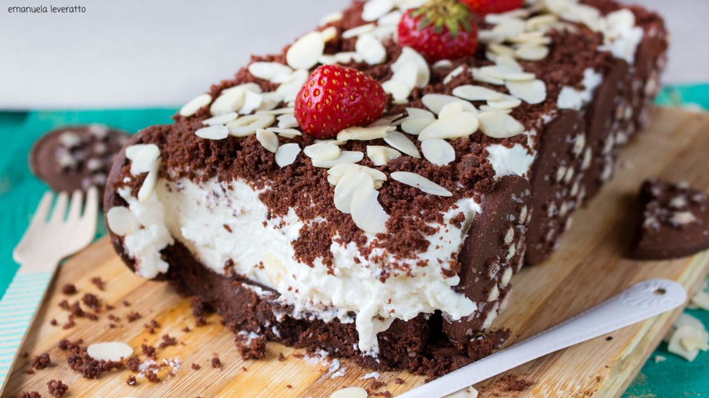 cheesecake fredda con pan di stelle