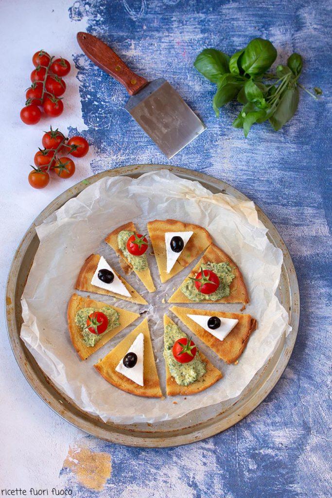 farinata-pesto-formaggio-e-pomodorini