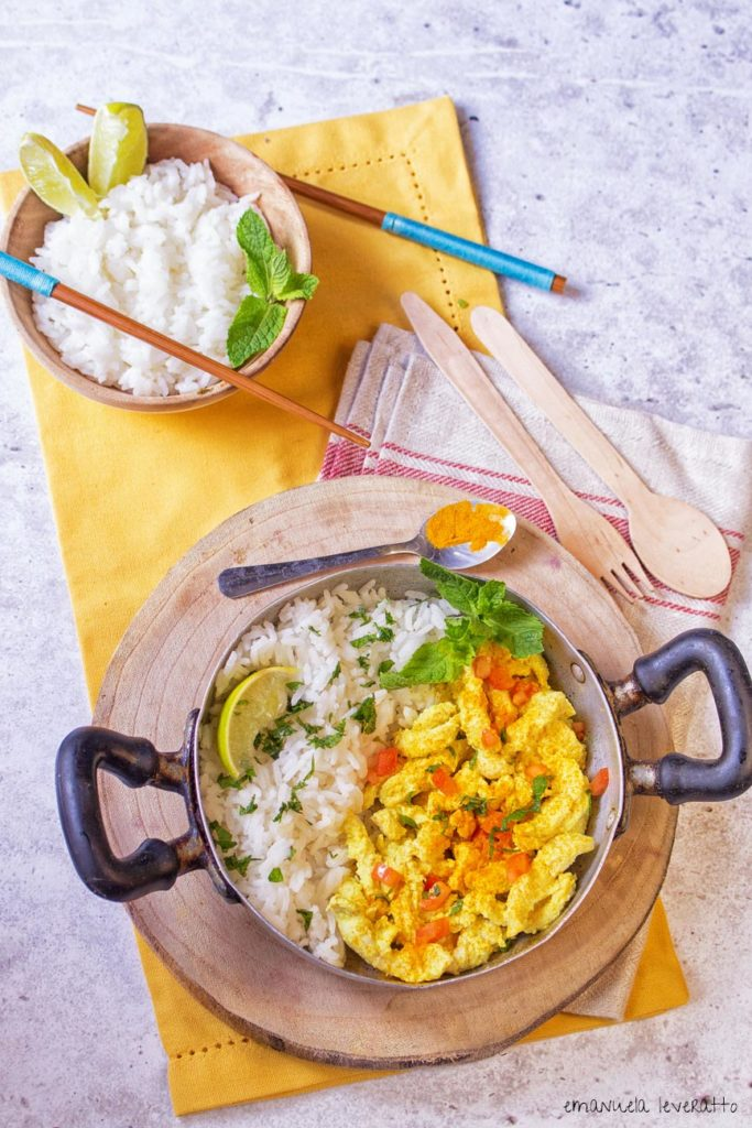 pollo al curry e cocco